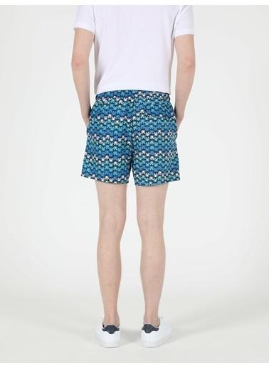 Colin's Slim Fit Orta Bel Erkek Deniz Şortu Mavi